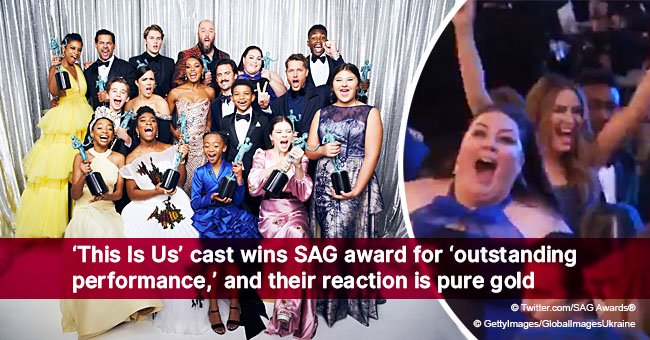 'This Is Us' cast wins SAG award for 'outstanding performance,' and their reaction is pure gold