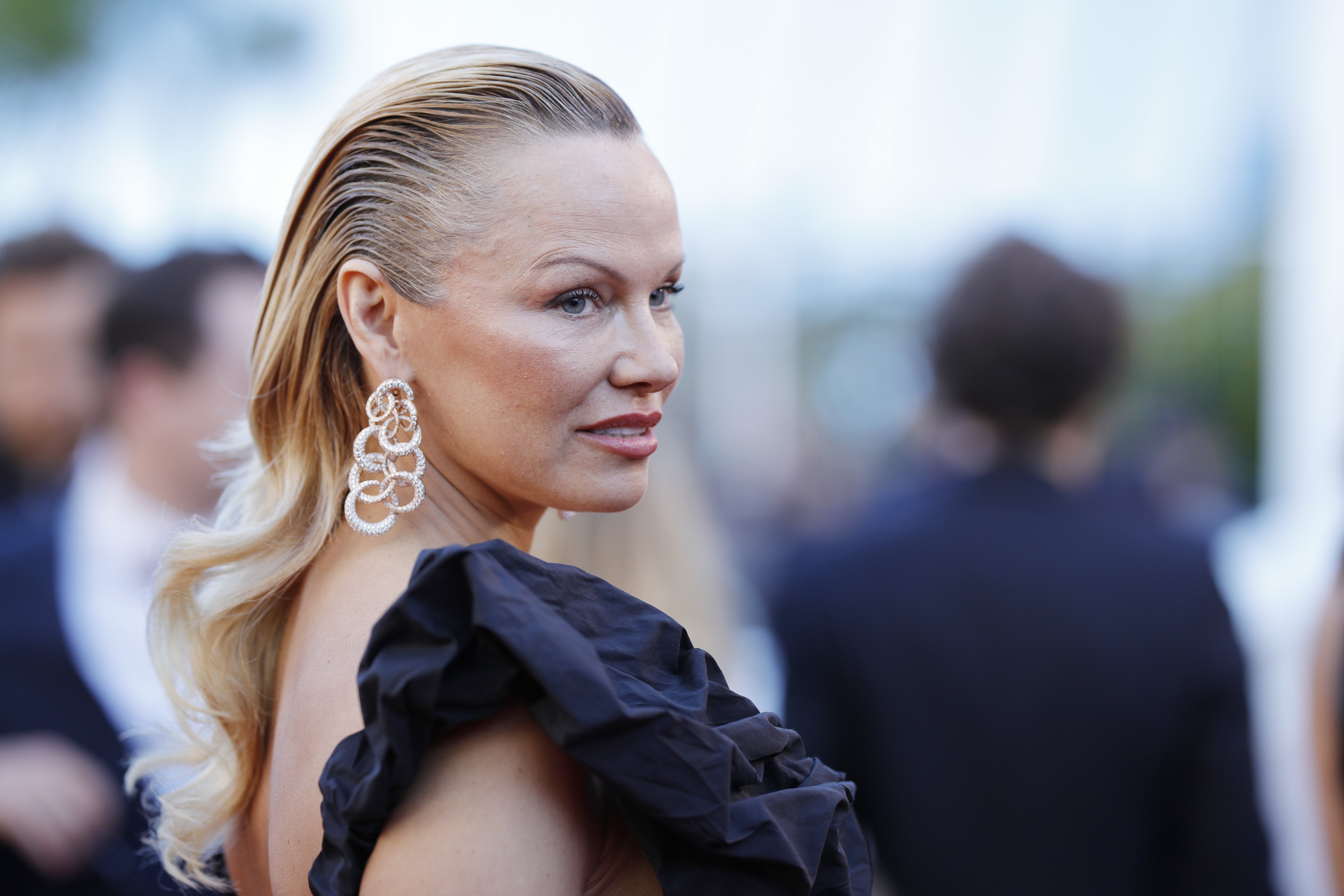 "Pamela Anderson at the ""120 Beats Per Minute (120 Battements Par Minute)"" screening during the 70th annual Cannes Film Festival at Palais des Festivals in Cannes, France 