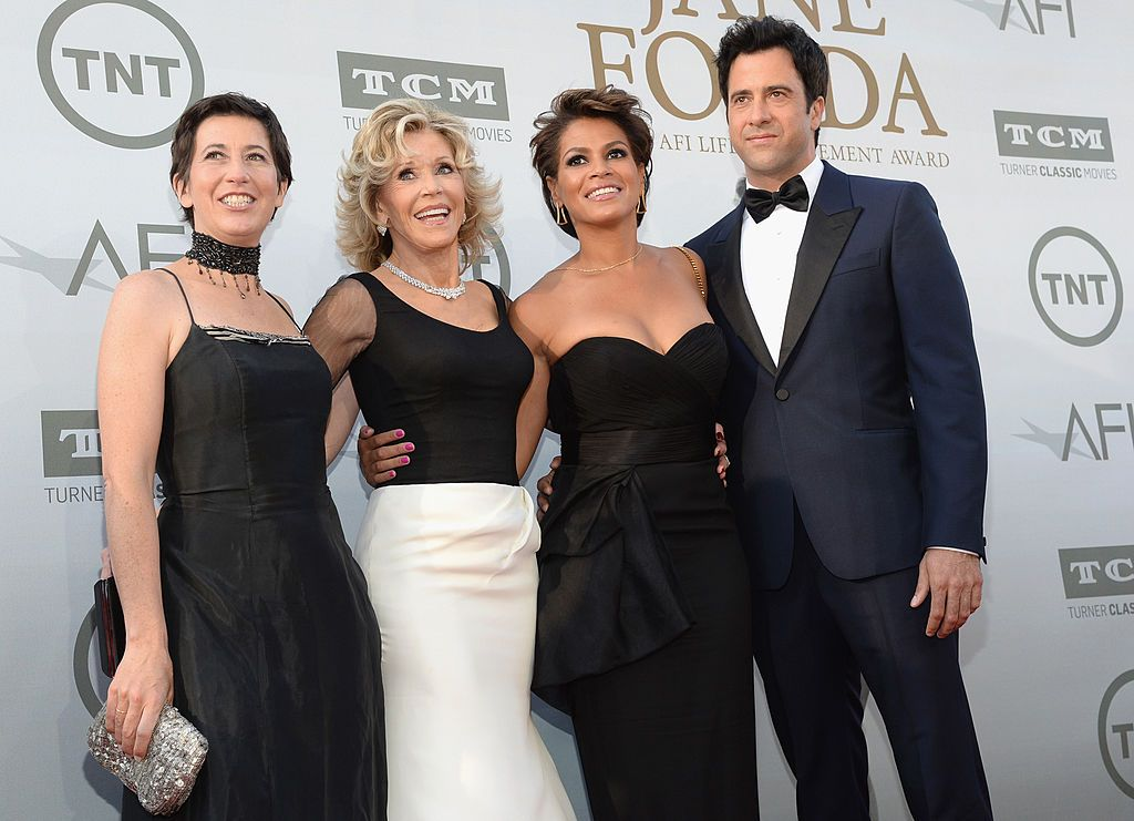 Jane Fonda with daughter filmmaker and actress Vanessa Vadim, actor son Troy Garity, and his wife Simone Bent at the 2014 AFI Life Achievement Award: A Tribute to Jane Fonda in Hollywood   Source: Getty Images