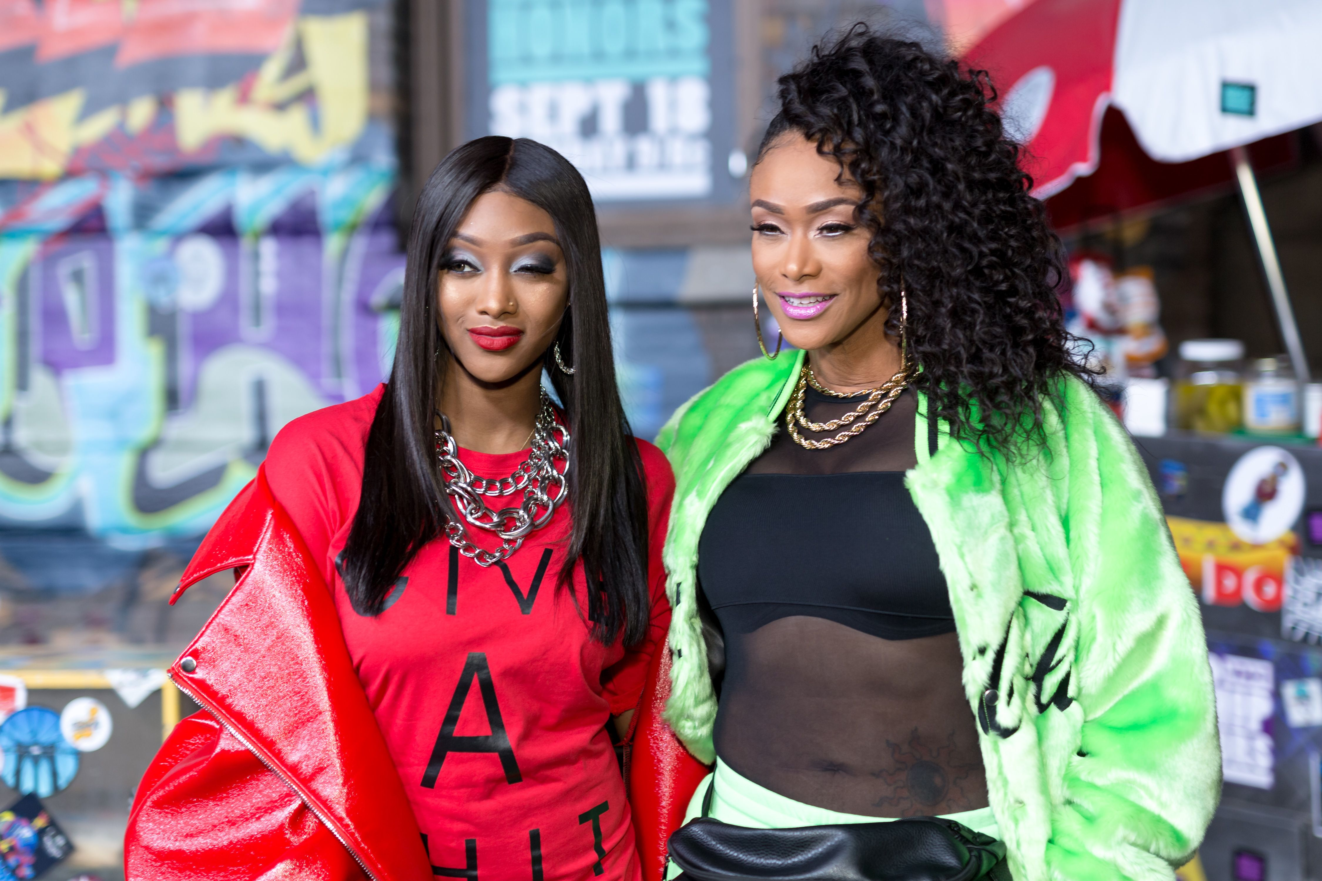 azz Anderson and Tami Roman at the VH1's Hip Hop Honors: The 90's Game Changers in 2017 in Hollywood | Source: Getty Images
