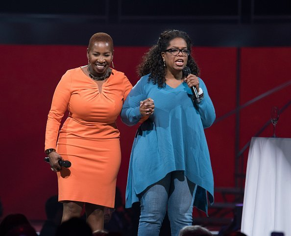 Iyanla Vanzant and Oprah Winfrey at the Oprah's The Life You Want Weekend in New Jersey.   Photo: Getty Images.