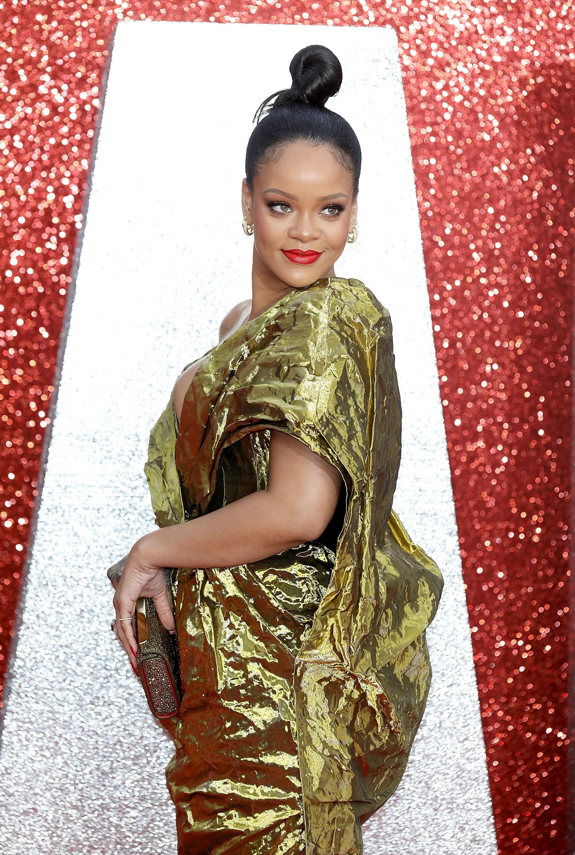 "Singer Rihanna at the ""Ocean's 8"" premiere on June 13, 2018 in London. 