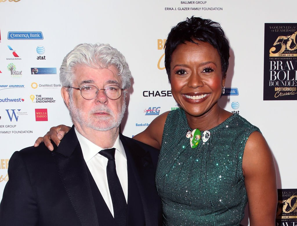 George Lucas and Mellody Hobson at the Brotherhood Crusade's 50th Pioneer of African American Achievement Award Dinner at The Beverly Hilton Hotel on December 07, 2018 | Photo: Getty Images
