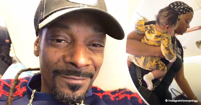 Snoop Dogg melts hearts with new video of his wife cradling their granddaughter on a plane