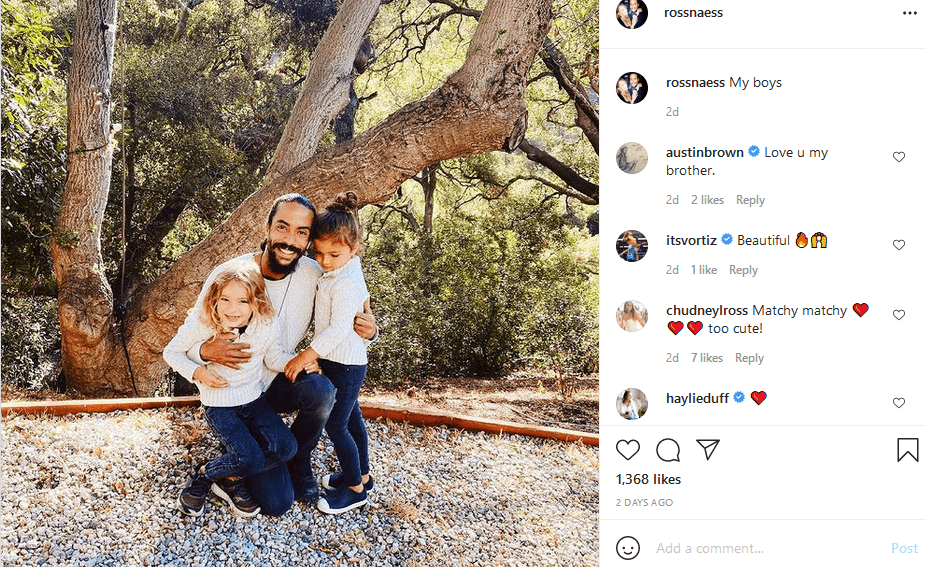 Diana Ross' daughter, Ross Naess and his sons on Instagram | Photo: Instagram/rossnaess