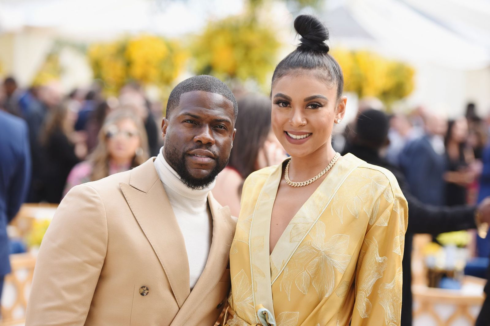 "Kevin Hart and Eniko Parrish at Roc Nation's ""The Brunch"" on February 9, 2019. 