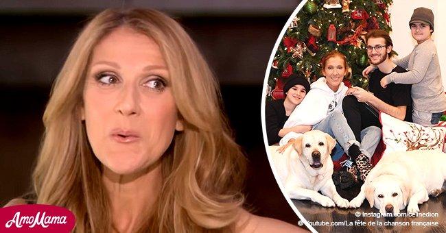 Céline Dion partage une belle photo de Noël avec ses trois fils et deux énormes chiens