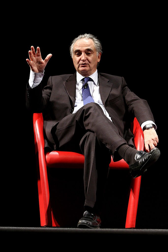 Jacques Attali le 28 janvier 2009 à Milan. l Source : Getty Images
