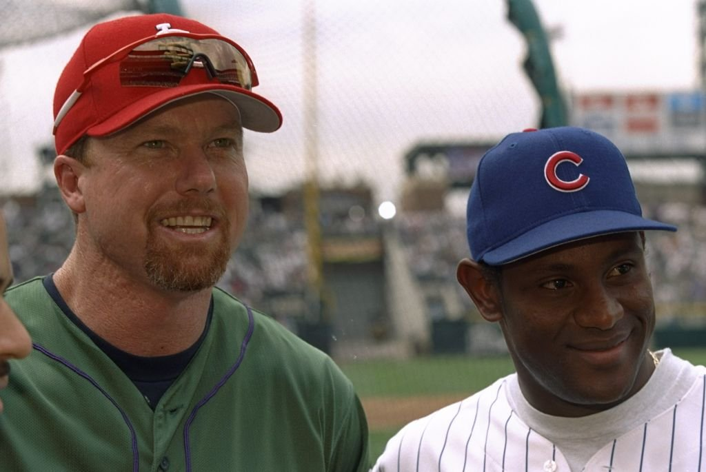 Mark McGwire and Sammy Sosa answer questions during the Major League Baseball All-Star Game | Photo: Getty Images
