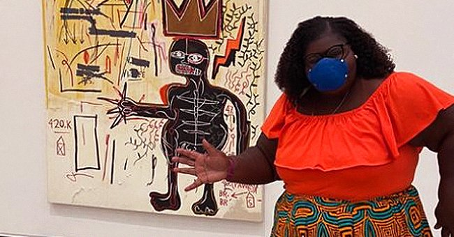Gabby Sidibe Dons an African-Print Skirt While Visiting the Broad Museum in a New Photo