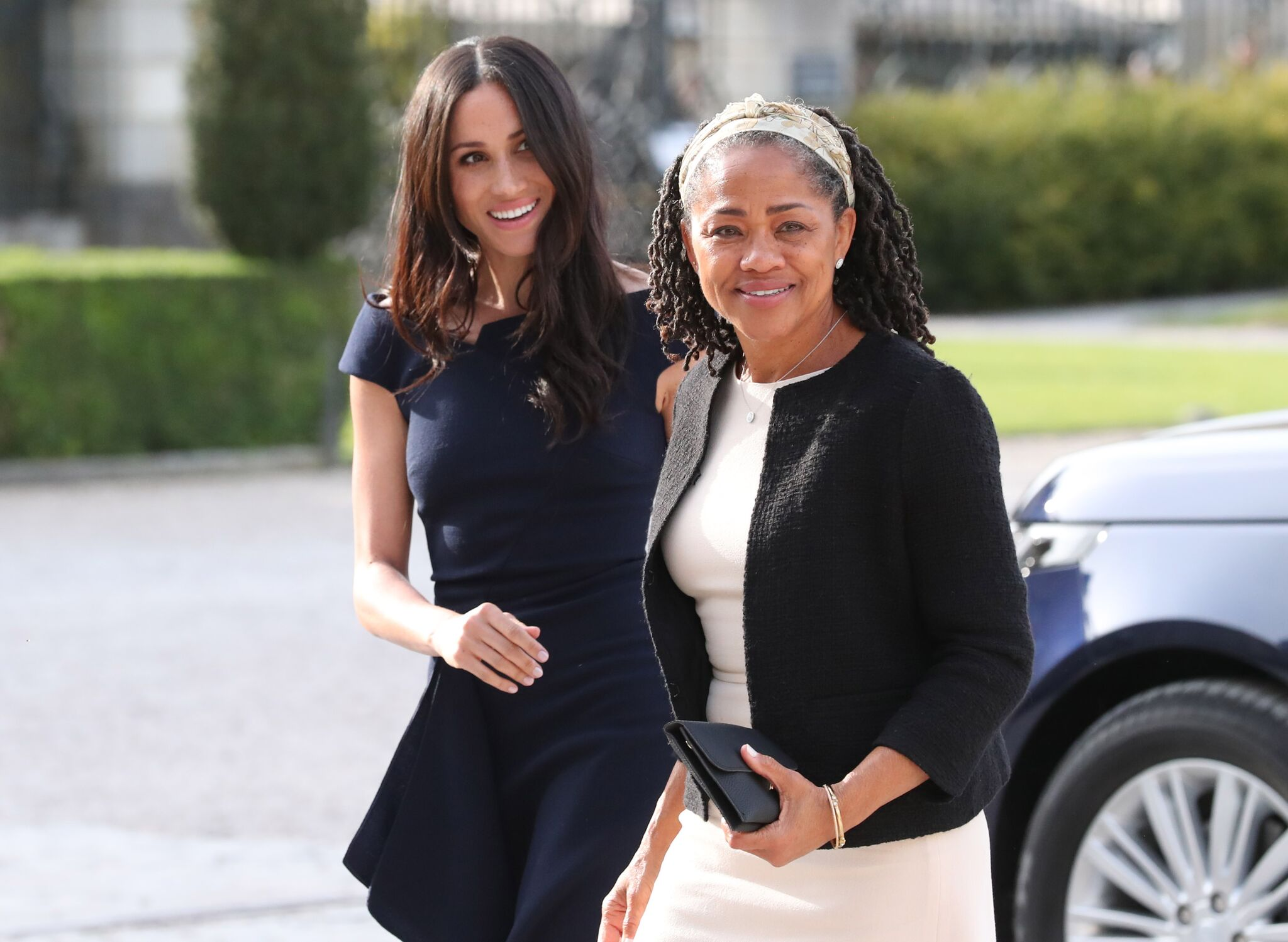 Meghan Markle and Doria Ragland before the royal wedding   Getty Images