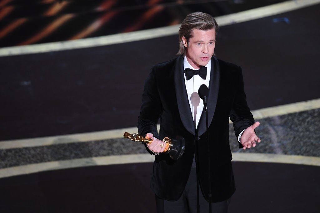 Brad Pitt accepts the Actor in a Supporting Role award for 'Once Upon a Time...in Hollywood' onstage during the 92nd Annual Academy Awards at Dolby Theatre on February 09, 2020. | Source: Getty Images