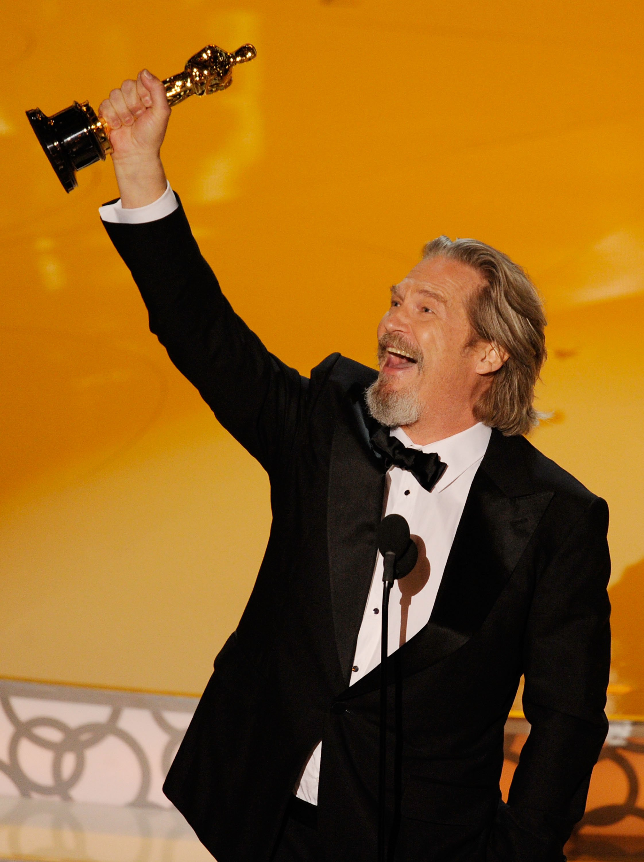 """Jeff Bridges accepts Best Actor award for """"Crazy Heart"""" during the 82nd Annual Academy Awards on March 7, 2010 