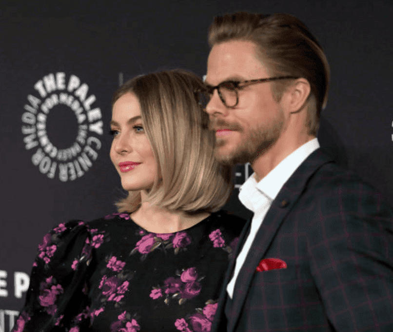 "Julianne Hough and her brother, Derek Hough pose on the red carpet at ""The Paley Center For Media Presents: An Evening With Derek Hough And Julianne Hough,"" on December 05, 2019 in Beverly Hills, California 