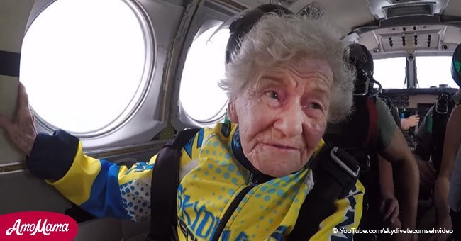 90-year-old woman celebrated her birthday by jumping out of an airplane