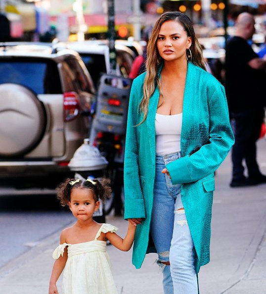 Chrissy Teigen and Luna Legend on June 23, 2019 in New York City.   Photo: Getty Images
