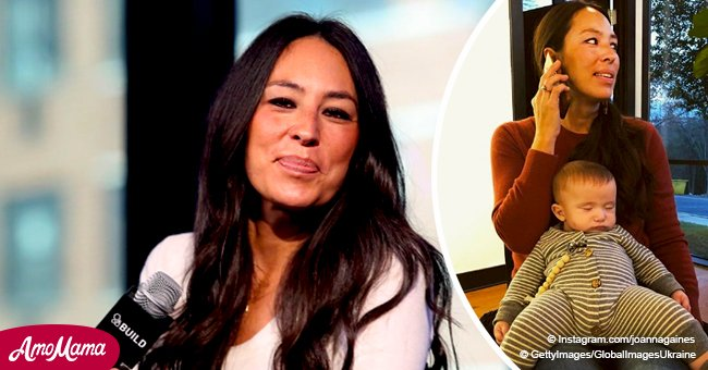 Joanna Gaines finally shares new photo of baby Crew sticking out of a too-small onesie
