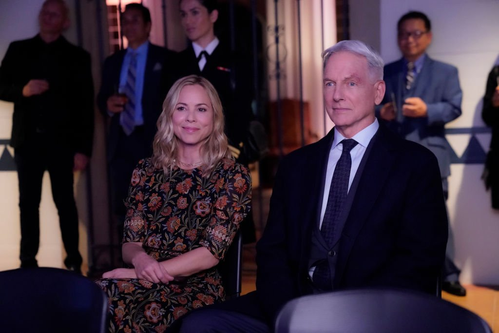 """Maria Bello as NCIS Special Agent Jaqueline """"Jack"""" Sloane, Mark Harmon as NCIS Special Agent Leroy Jethro Gibbs on October 09, 2019. 