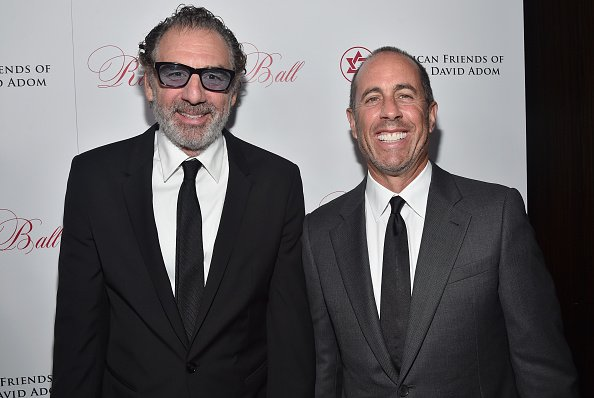 Actors Michael Richards and Jerry Seinfeld attend the American Friends Of Magen David Adom's Red Star Ball at The Beverly Hilton Hotel on October 22, 2015 in Beverly Hills, California. | Photo :Getty Images