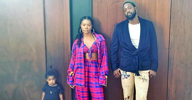 Gabrielle Union and Dwyane Wade Pose in Cool Family Photo with Daughter Kaavia
