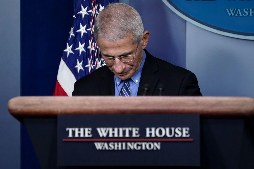 Dr. Anthony Fauci, director of the National Institute of Allergy and Infectious Diseases, during a briefing on the coronavirus pandemic at the White House on March 24, 2020 | Photo: Getty Images