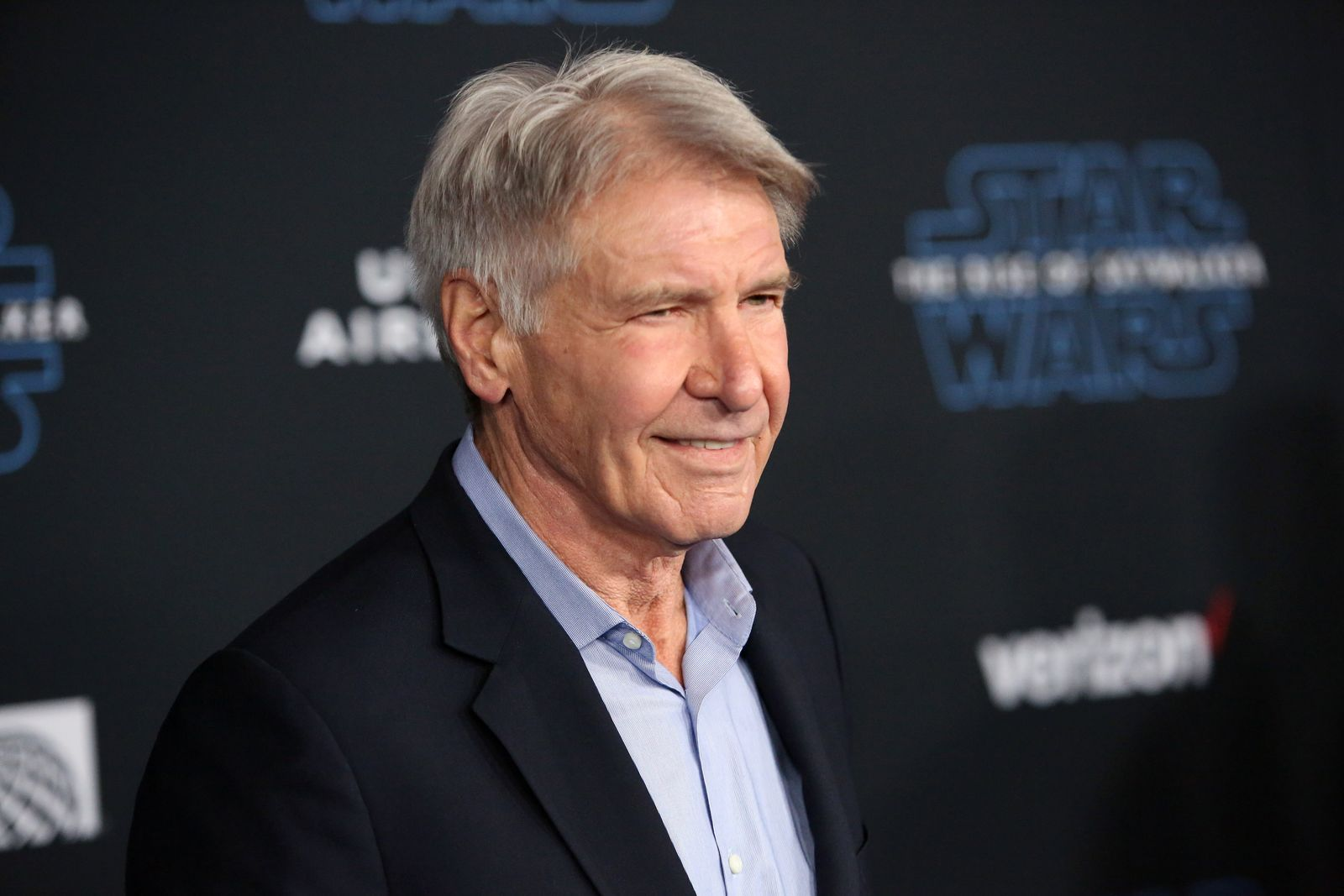 """Harrison Ford at the world premiere of """"Star Wars: The Rise of Skywalker"""" on December 16, 2019, in Hollywood, California 