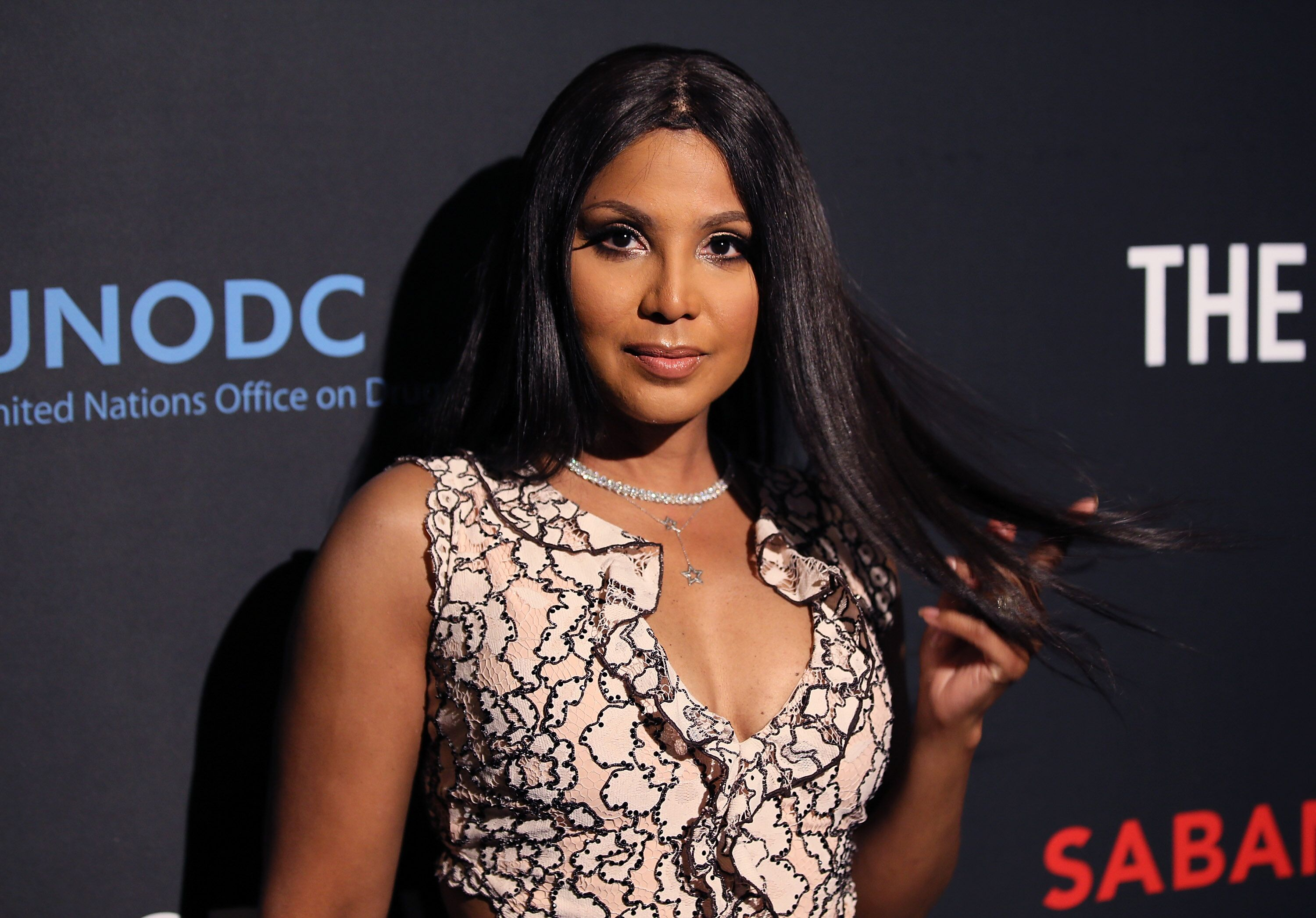 "Toni Braxton at the premiere of Saban Films' ""The Forgiven"" in March 2018 