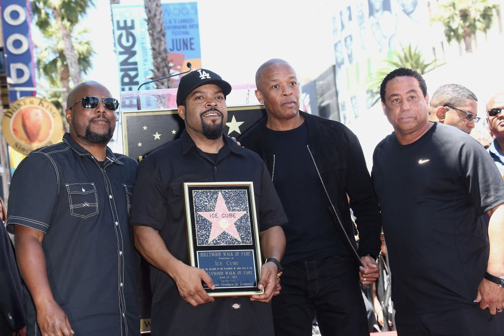 MC Ren, Ice Cube, Dr. Dre and DJ Yella attend a Ceremony Honoring Ice Cube With Star On The Hollywood Walk Of Fame on June 12, 2017 | Photo: Getty Images