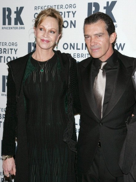 Melanie Griffith and Antonio Banderas at The New York Marriott Marquis on December 3, 2012 in New York City. | Photo: Getty Images