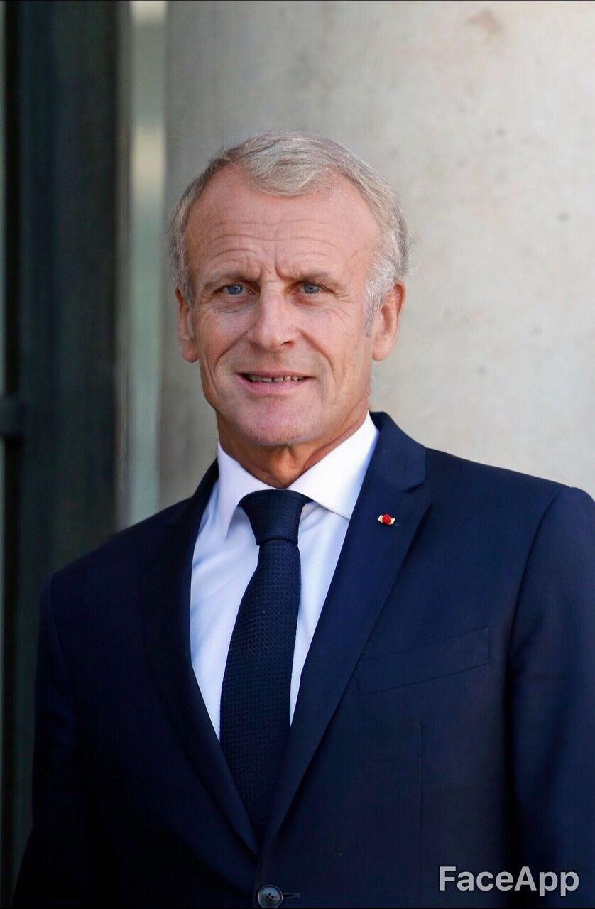Photo de Emmanuel Macron sur FaceApp