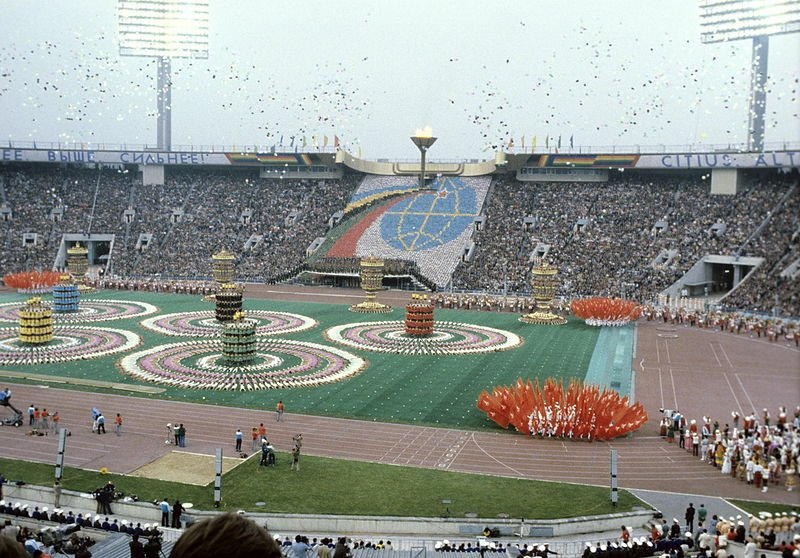 Opening ceremony of the 1980 Olympic Games | Source: Wikimedia Commons