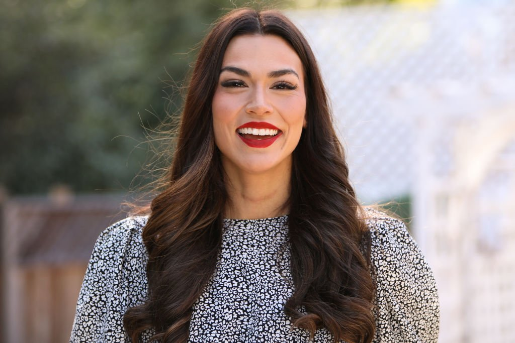 "TV Personality Erica Lugo visited Hallmark Channel's ""Home & Family"" at Universal Studios Hollywood on February 03, 2020 in Universal City, California.