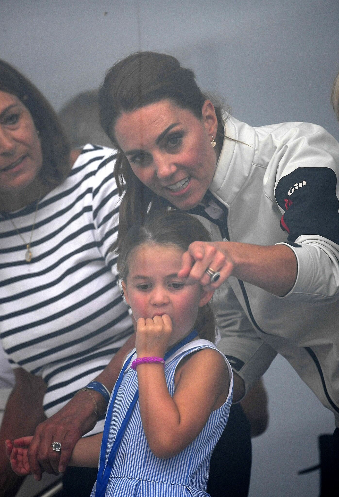 Princess Charlotte of Cambridge and Catherine, Duchess of Cambridge having fun together after the inaugural King's Cup regatta   Getty Images