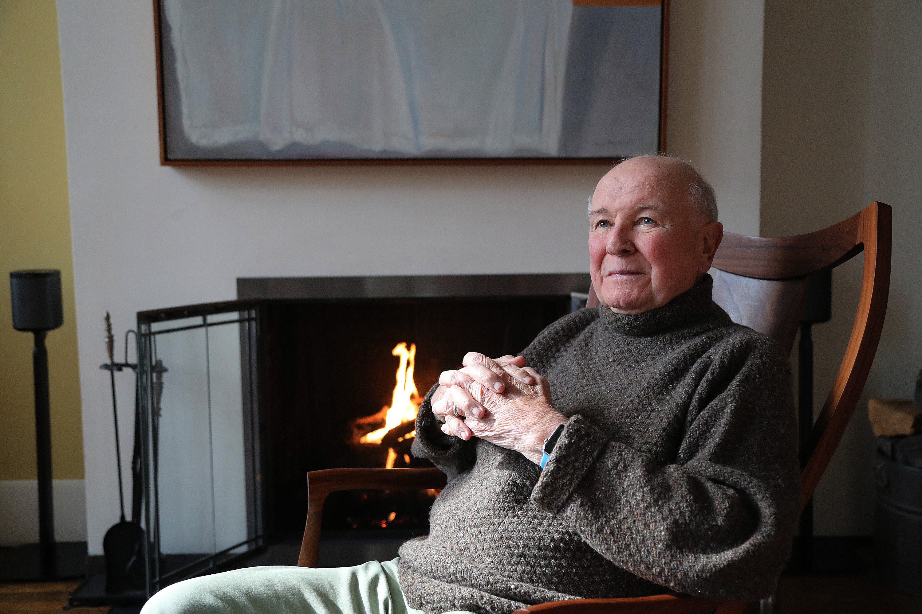 Playwright Terrence McNally appears in a portrait taken in his home on March 2, 2020, in New York City. | Source: Getty Images.
