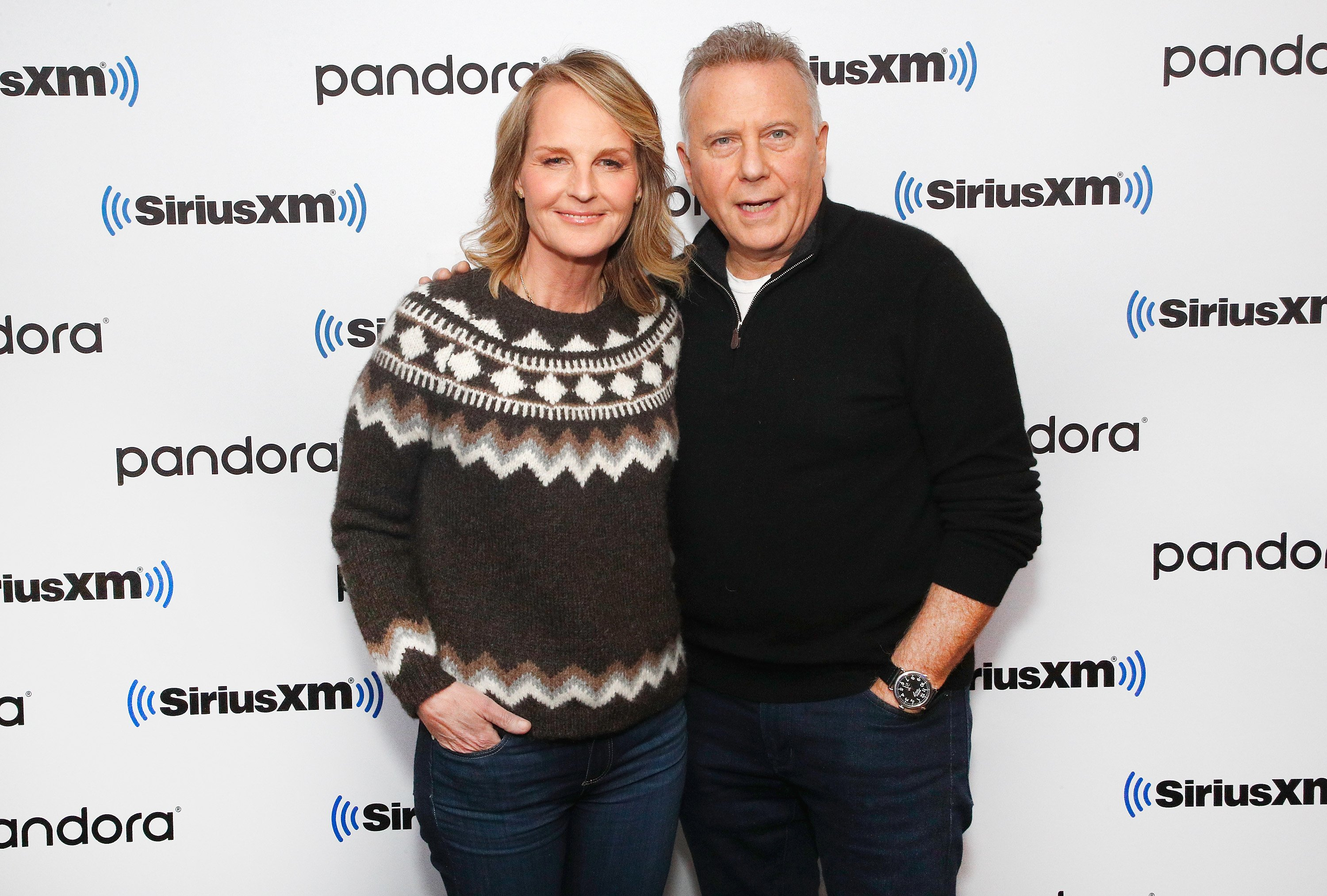 Helen Hunt and Paul Reiser attend SiriusXM's Town Hall with the cast of 'Mad About You' hosted by SiriusXM host Jenny Hutt on December 16, 2019, in New York City. | Source: Getty Images.
