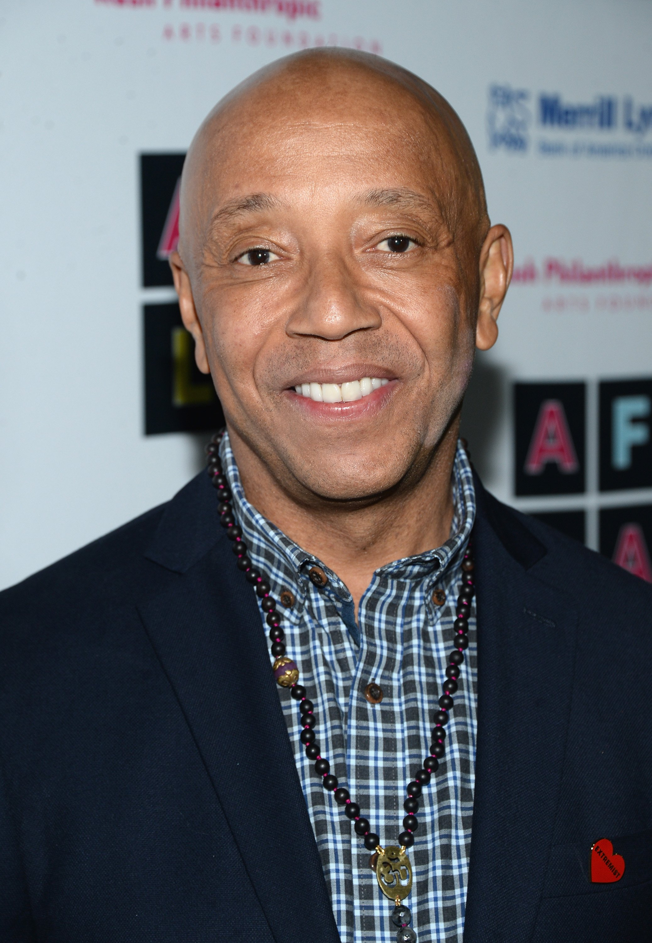 "Russell Simmons attending his Rush Philanthropic Arts Foundation's ""Art for Life"" inauguration in May 2016. 