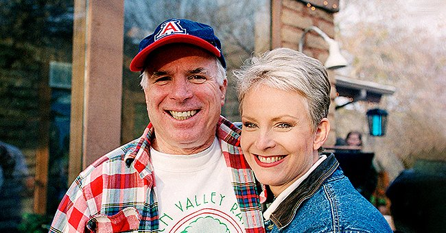 John McCain and his wife, Cindy McCain, pose for photos at their family ranch on March 9, 2000.   Photo: Getty Images
