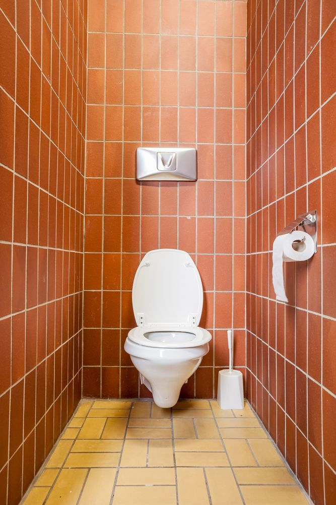 A small bathroom cubicle.   Source: Shutterstock