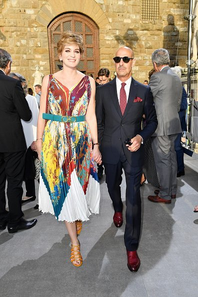 Felicity Blunt and Stanley Tucci at the Salvatore Ferragamo on June 11, 2019 in Florence, Italy   Photo: Getty Images