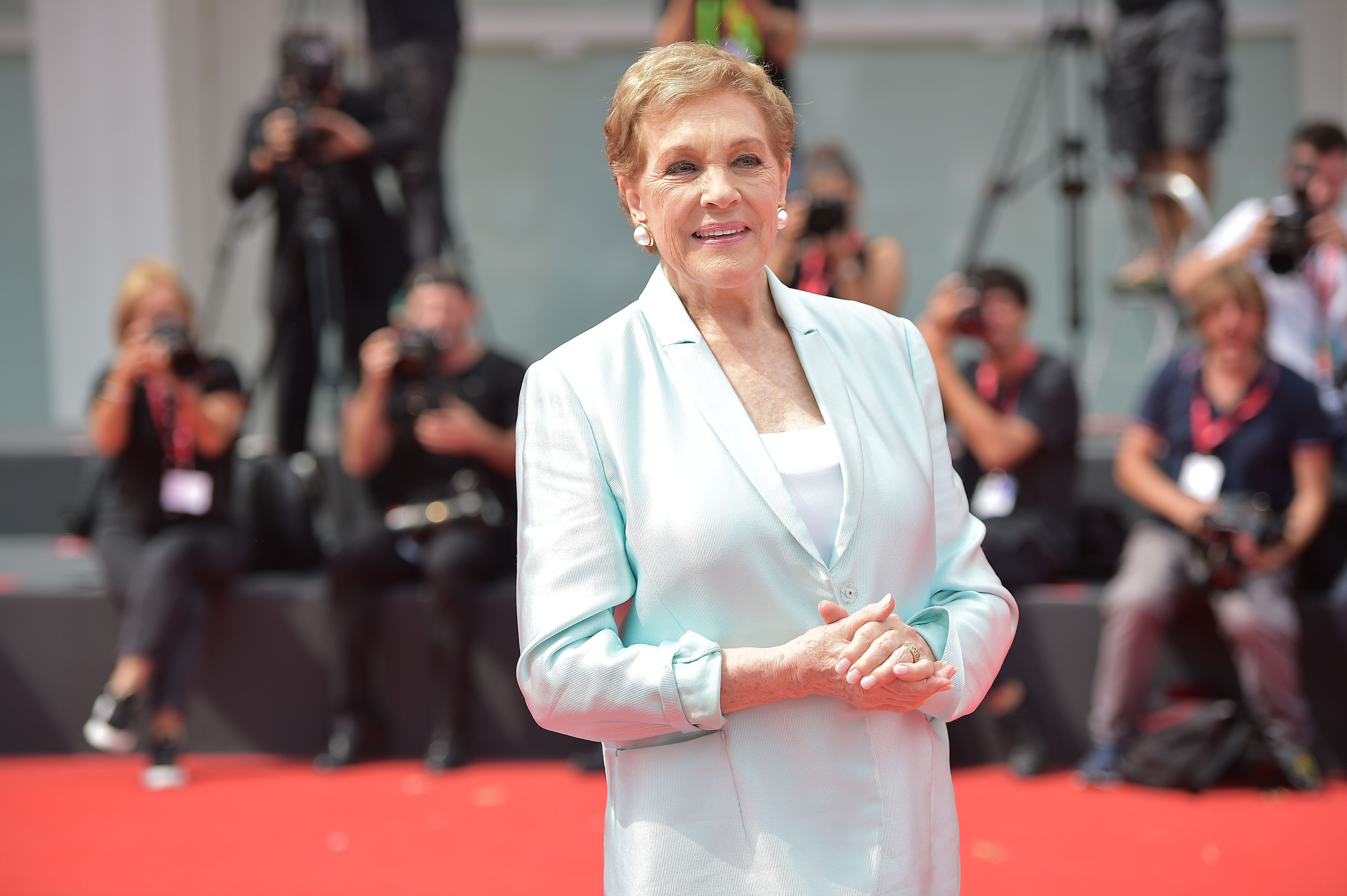 Julie Andrews arrives to be awarded the Golden Lion for Lifetime Achievement during the 76th Venice Film Festival at Sala Grande on September 02, 2019 in Venice, Italy. | Source: Getty Images