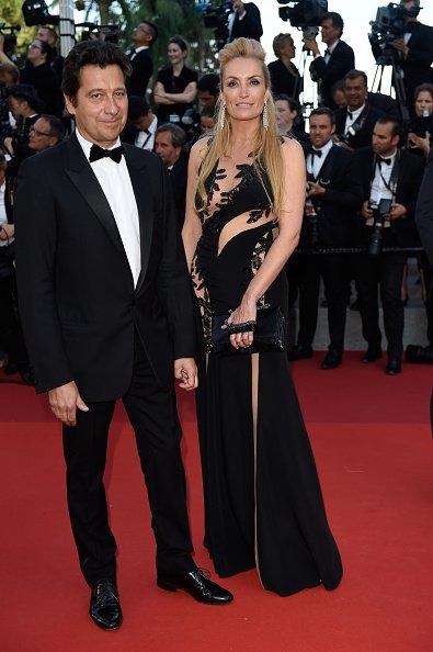 Laurent Gerra et Christelle Bardet assistent au 70e anniversaire du 70e Festival de Cannes au Palais des Festivals le 23 mai 2017 à Cannes, France.   Photo : GettyImage
