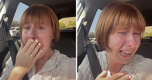 A woman shared a teary reaction after she paid $300 for a haircut that she disliked   Photo: TikTok/icarlyreboot