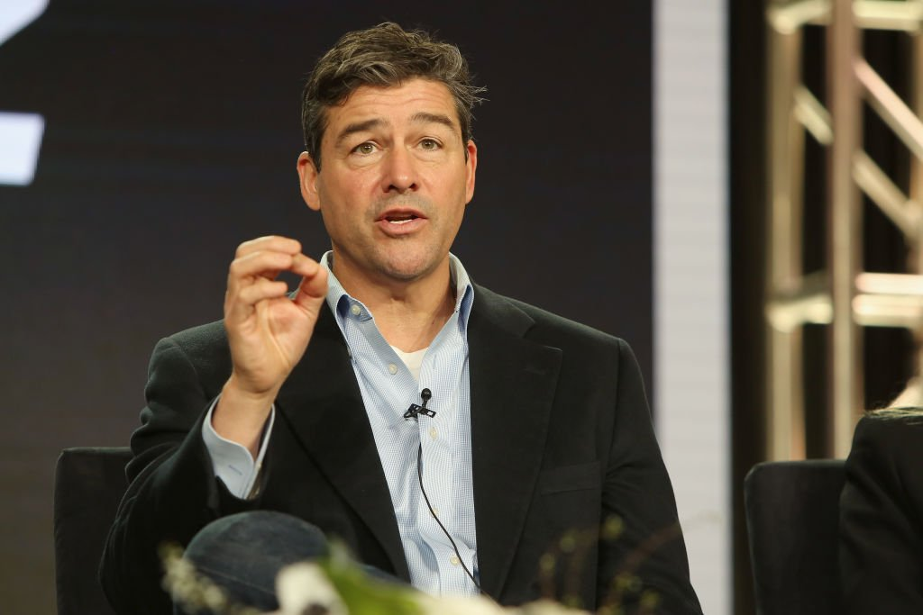 "Kyle Chandler of ""Catch 22"" speaks onstage during the Hulu Panel during the Winter TCA 2019 on February 11, 2019 