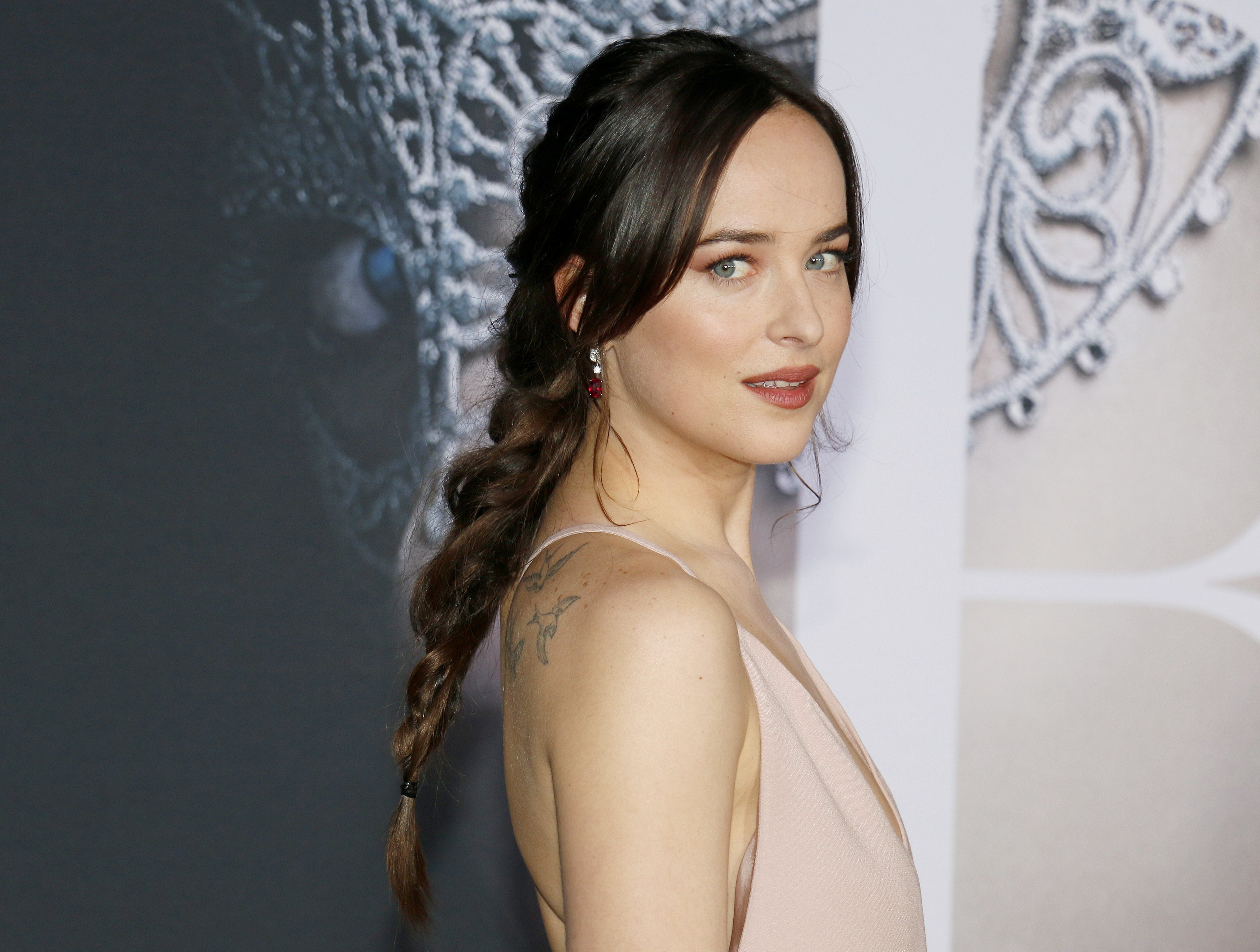Dakota Johnson pictured at the Los Angeles premiere of 'Fifty Shades Darker' at the Theatre at Ace Hotel, Los Angeles, 2017. | Photo: Getty Images