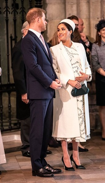 The Duke and Duchess of Sussex at the Westminster Abbey Commonwealth day service on March 11, 2019, in London, England. | Source: Getty Images.