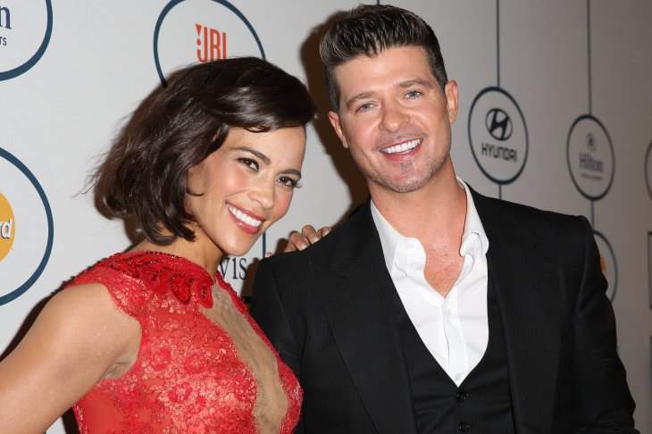 Happier Times: Paula Patton and Robin Thicke at The Beverly Hilton Hotel in Beverly Hills on January 25, 2014. | Photo: Getty Images