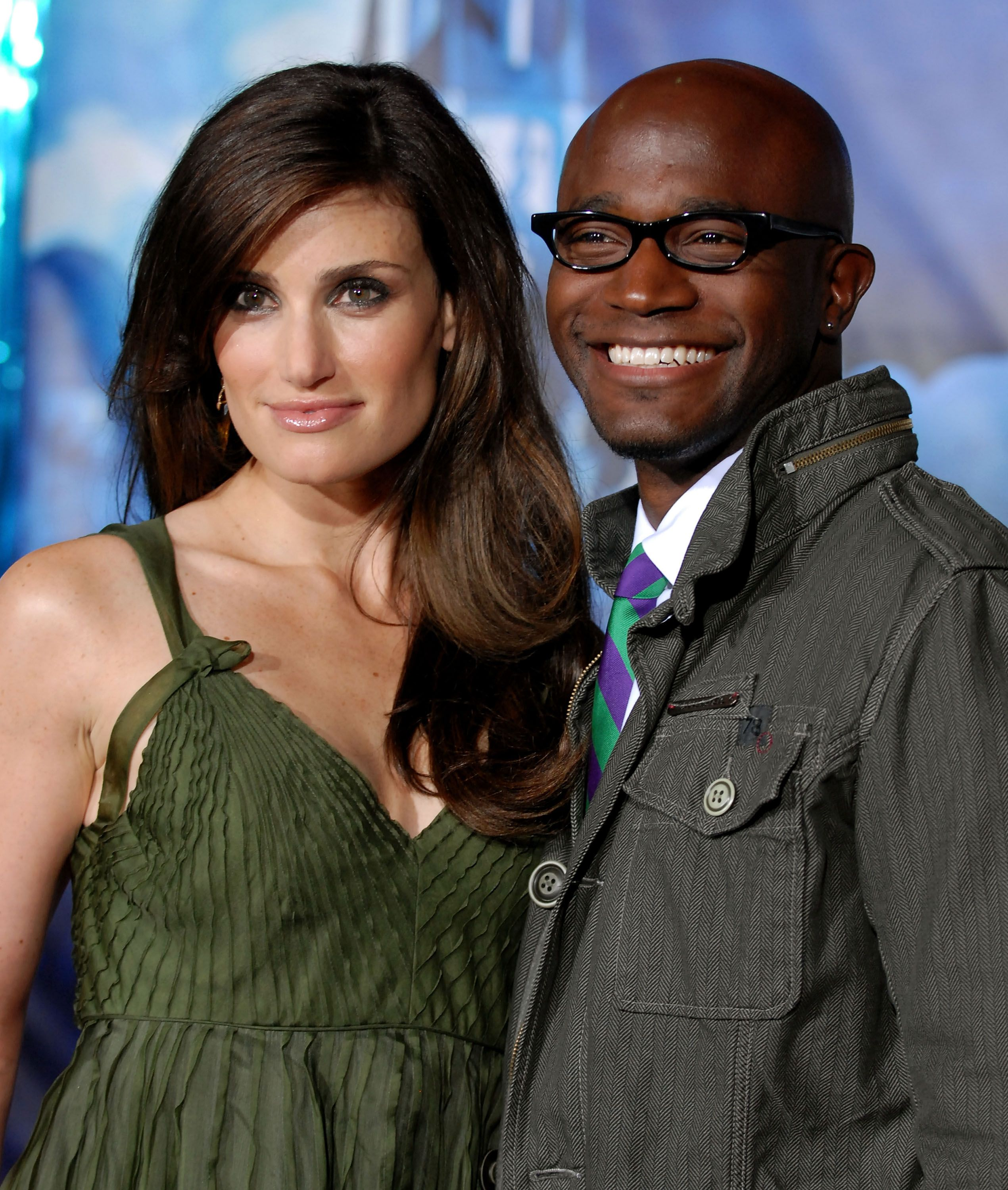 """Actress Idina Menzel and actor Taye Diggs arrive at the premiere of """"Enchanted"""" held in Hollywood, California on November 17, 2007   Photo: Getty Images"""