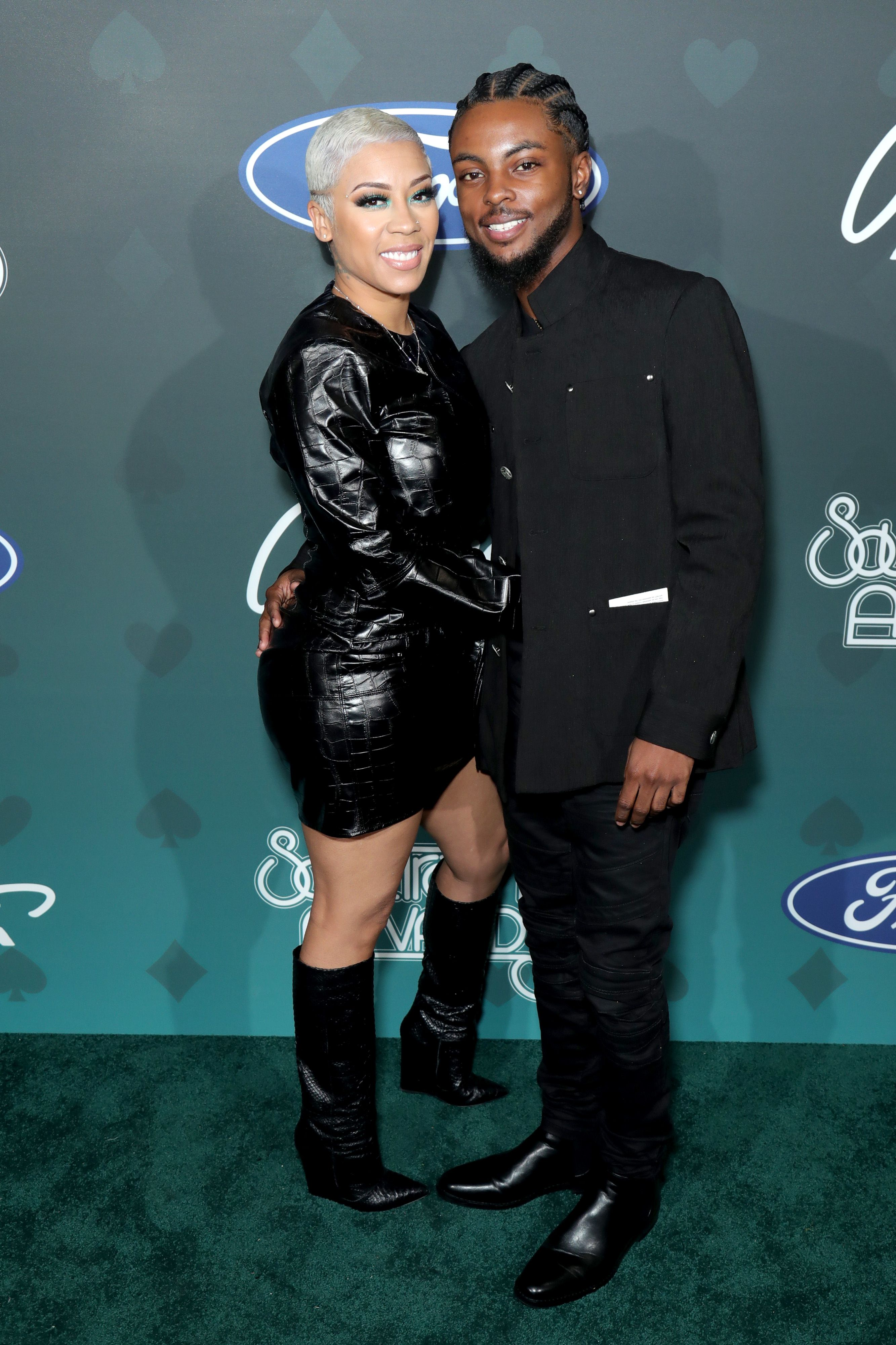 Keyshia Cole and Niko Khale pose backstage at the 2019 Soul Train Awards presented by BET at the Orleans Arena on November 17, 2019 | Photo: Getty images