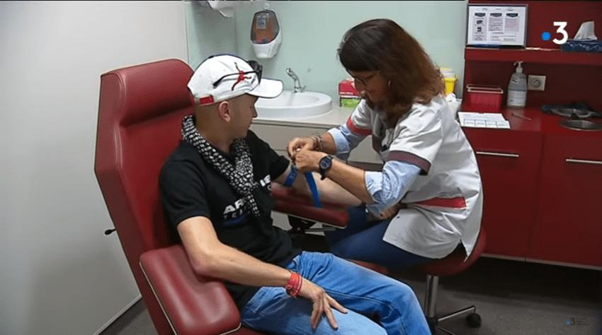 Jonathan Drutel, double transplanté cœur-poumon au départ de l'Iron Man de Nice | source :  France 3 Provence-Alpes Côte d'Azur