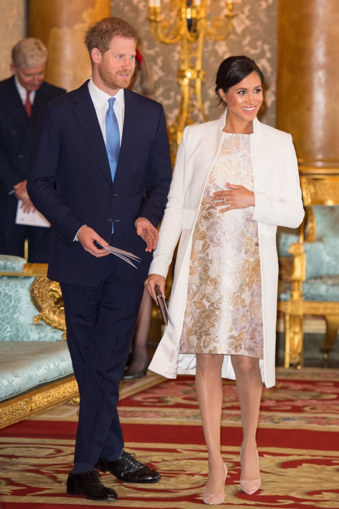 Meghan Markle and Prince Harry attend a reception at Buckingham Palace on March 5, 2019 in London, England | Photo: Getty Images